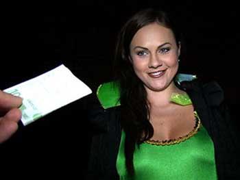 Tina Kay - Halloween Peeping Tom gets laid
