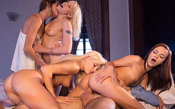 Lea Gurlin, Lola Taylor, Candee, Gina Gerson - Lea Guerlin First Night In The Girls Dormitory